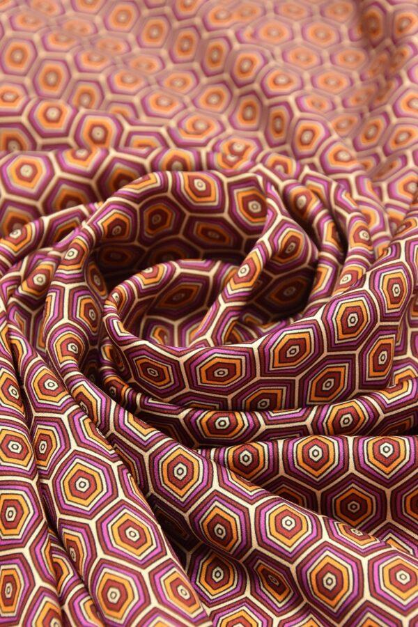 Атлас терракотовый ромбы (4603) - Фото 8