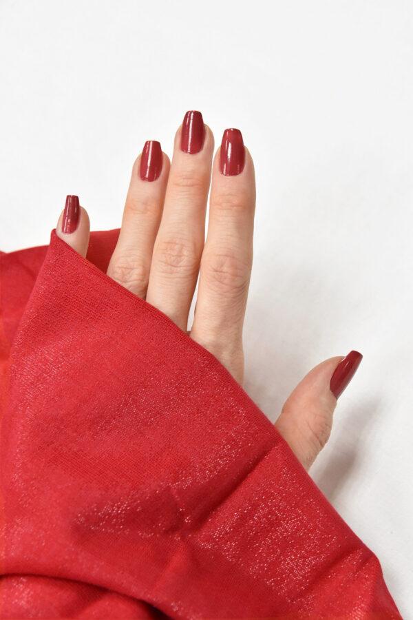 Штапель вискоза мерцающая красный с искринкой (4606) - Фото 10