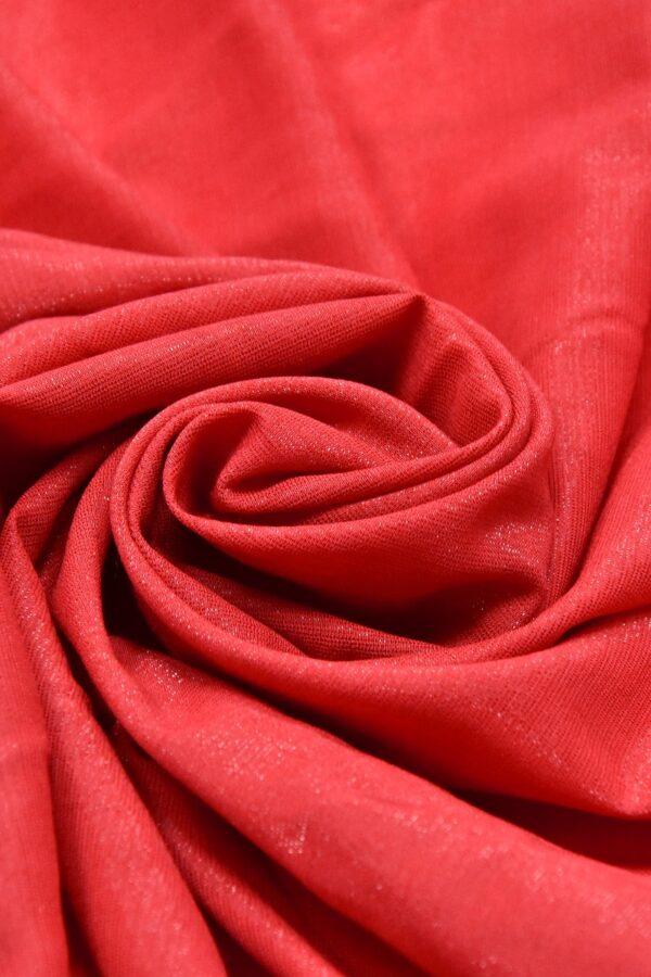 Штапель вискоза мерцающая красный с искринкой (4606) - Фото 7