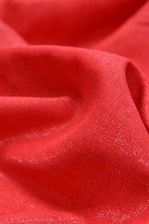 Штапель вискоза мерцающая красный с искринкой (4606) - Фото 9