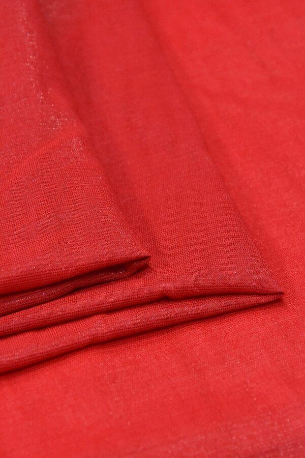 Штапель вискоза мерцающая красный с искринкой (4606) - Фото 8