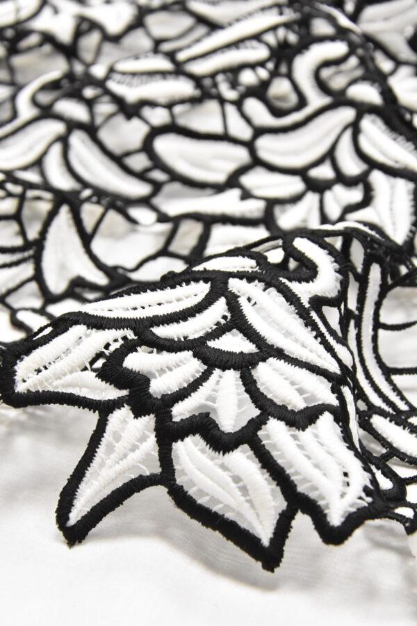 Кружево макраме ажурное флористический узор (4607) - Фото 8