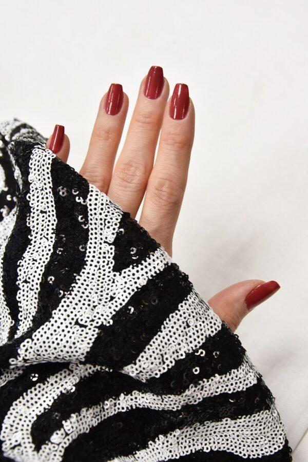 Пайетки черные с зебровым рисунком на трикотаже (4617) - Фото 11