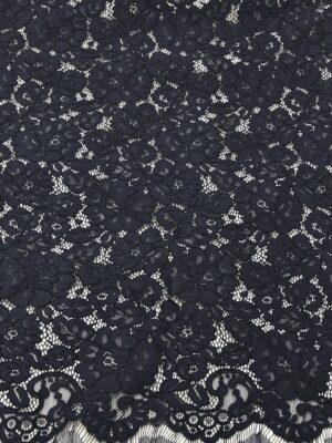 Кружево сутажное с цветочным узором черничный оттенок (4660) - Фото 12