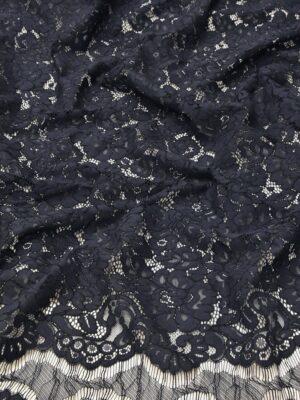 Кружево сутажное с цветочным узором черничный оттенок (4660) - Фото 11