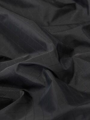 Плащевая ткань черная в клетку (4668) - Фото 14