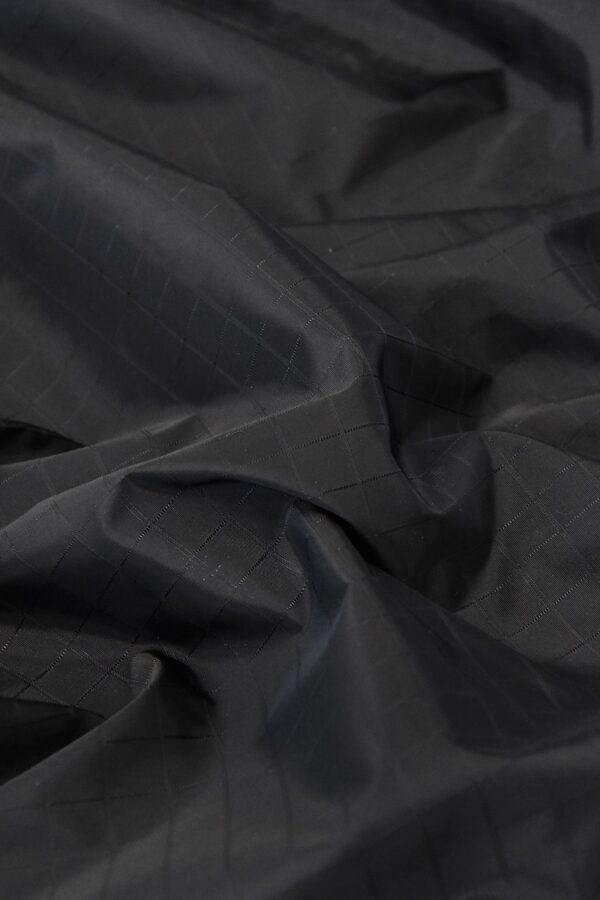Плащевая ткань черная в клетку (4668) - Фото 6