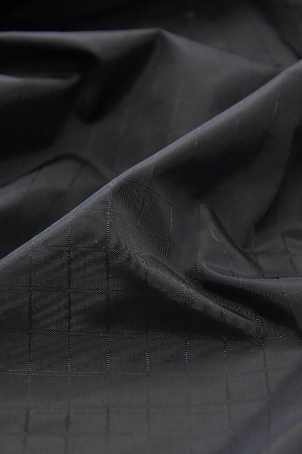 Плащевая ткань черная в клетку (4668) - Фото 8