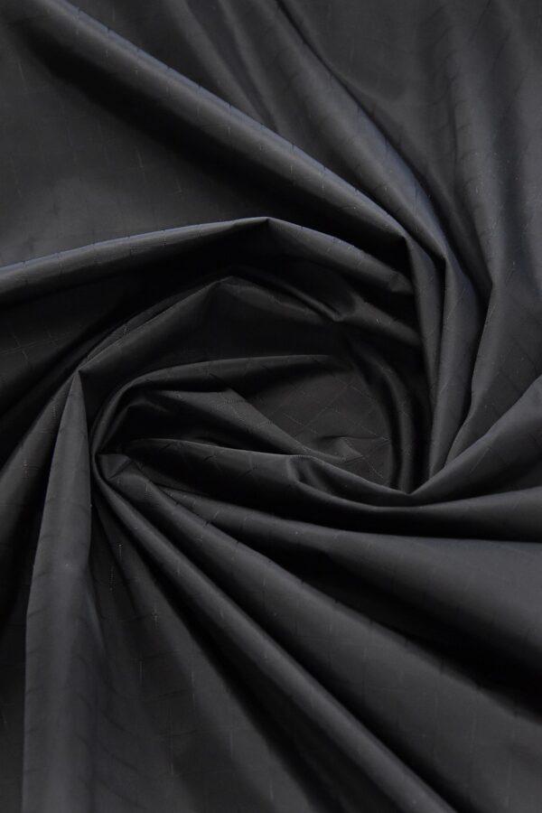 Плащевая ткань черная в клетку (4668) - Фото 9