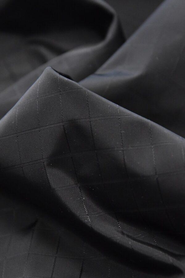 Плащевая ткань черная в клетку (4668) - Фото 10