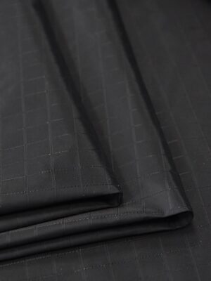 Плащевая ткань черная в клетку (4668) - Фото 15