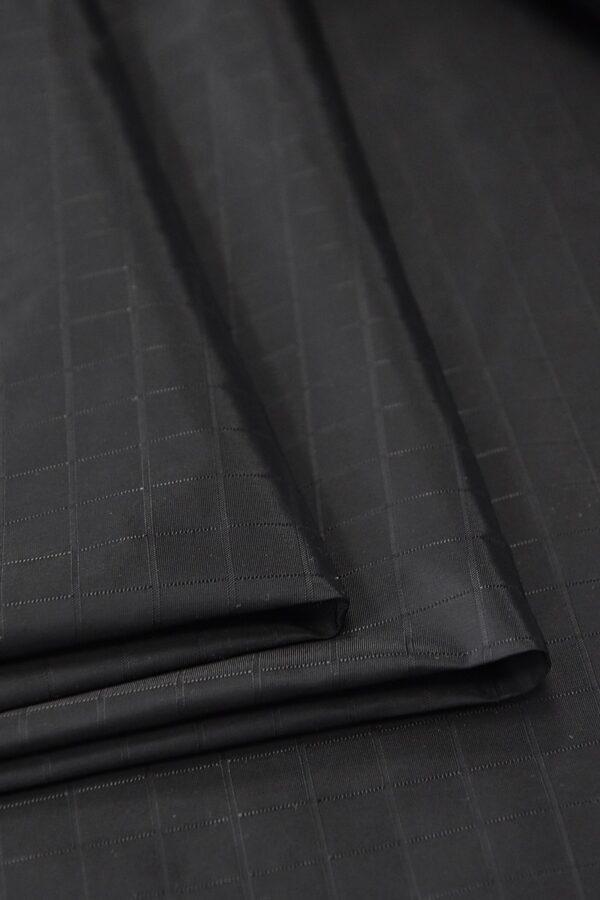 Плащевая ткань черная в клетку (4668) - Фото 7