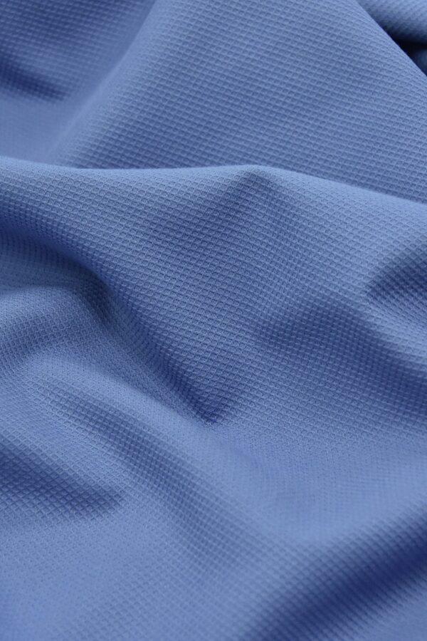 Хлопок пике серо-голубой (4673) - Фото 6