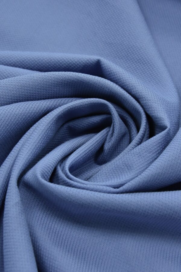 Хлопок пике серо-голубой (4673) - Фото 10