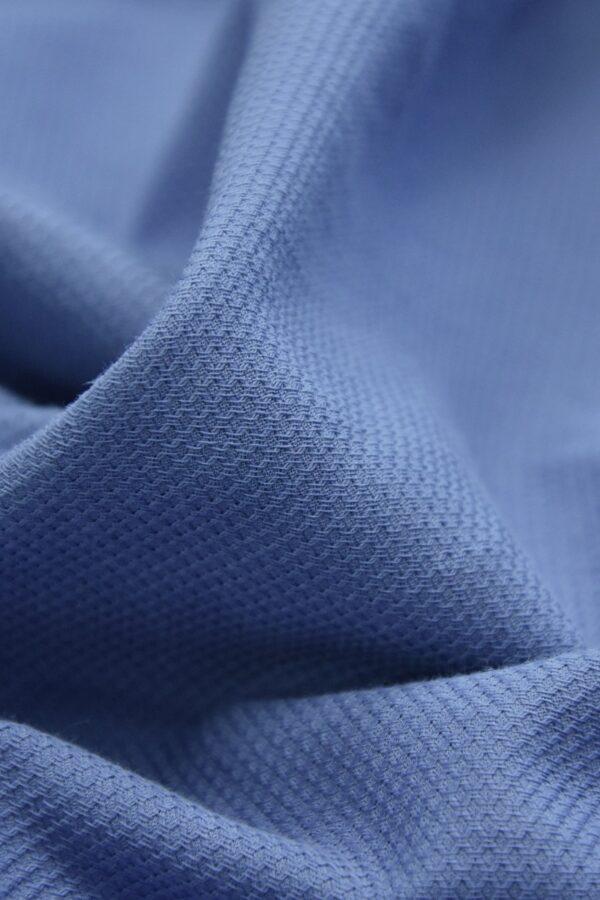 Хлопок пике серо-голубой (4673) - Фото 8