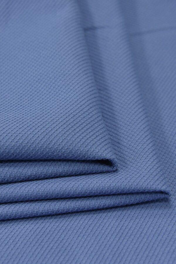 Хлопок пике серо-голубой (4673) - Фото 7