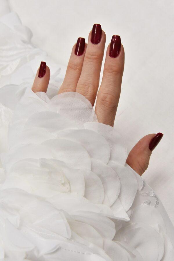 Шифон с вышивкой белый 3Д цветы (4678) - Фото 10