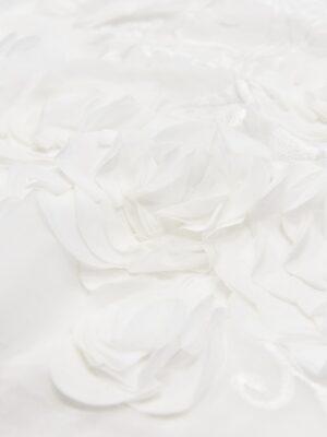 Шифон с вышивкой белый 3Д цветы (4678) - Фото 17