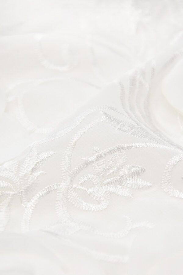 Шифон с вышивкой белый 3Д цветы (4678) - Фото 8