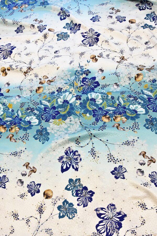 Шелк с цветами и ракушками (4725) - Фото 14