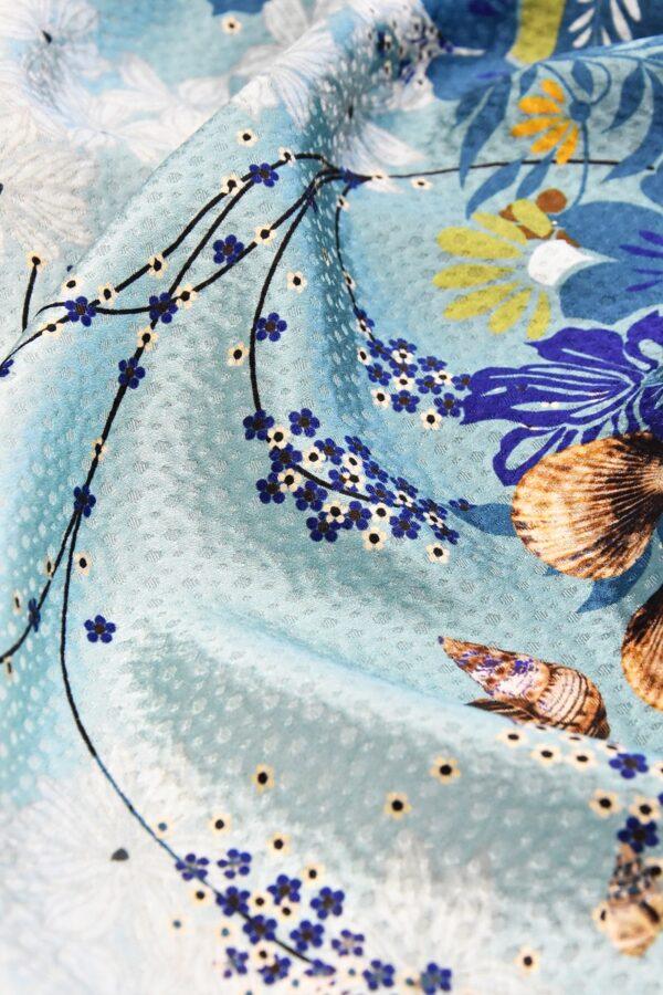 Шелк с цветами и ракушками (4725) - Фото 11