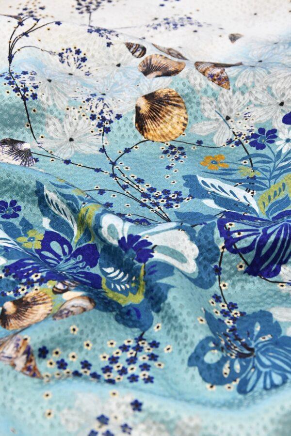 Шелк с цветами и ракушками (4725) - Фото 13