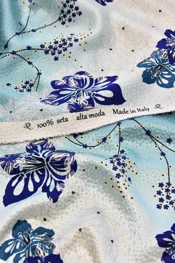 Шелк с цветами и ракушками (4725) - Фото 8