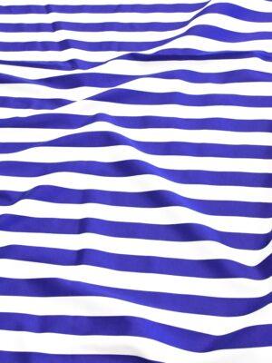 Хлопок стрейч белый в синюю полоску (4748) - Фото 14
