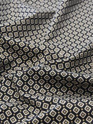 Хлопок стрейч черный узор из ромбов (4775) - Фото 11
