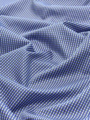 Хлопок синий с мелким геометрическим принтом (4777) - Фото 13