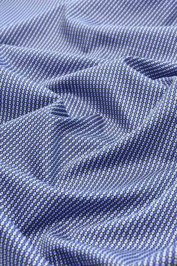 Хлопок синий с мелким геометрическим принтом (4777) - Фото 6
