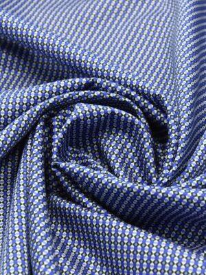 Хлопок синий с мелким геометрическим принтом (4777) - Фото 14