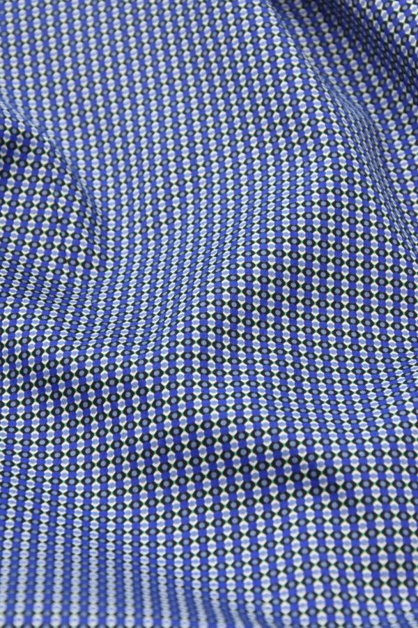 Хлопок синий с мелким геометрическим принтом (4777) - Фото 9