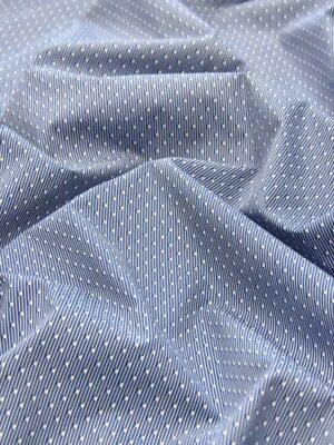 Хлопок полоска синий мелким узором (4787) - Фото 17