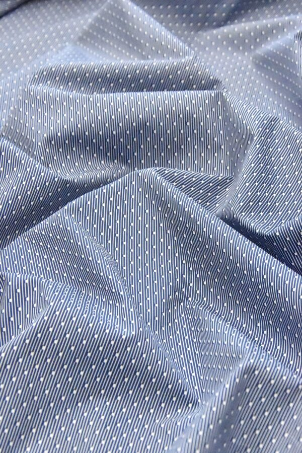 Хлопок полоска синий мелким узором (4787) - Фото 6
