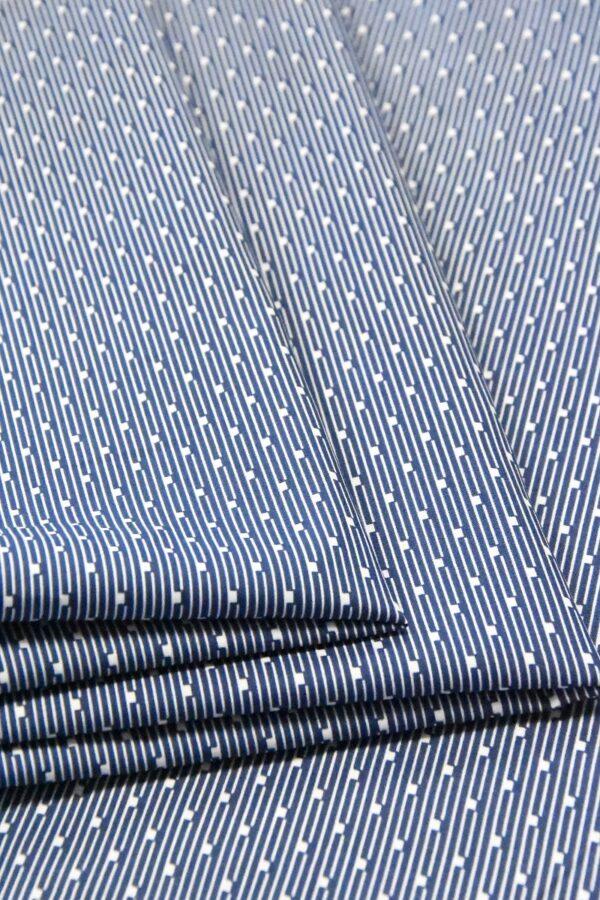 Хлопок полоска синий мелким узором (4787) - Фото 8