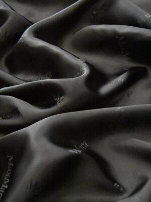 Подкладочная вискоза черная с надписями (4855) - Фото 12