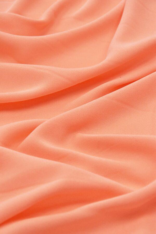 Крепдешин шелк лососевый(4868) - Фото 6