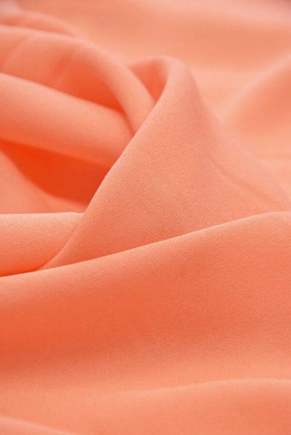 Крепдешин шелк лососевый(4868) - Фото 8