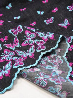 Джинс с вышивкой бабочки на сером фоне (4919) - Фото 12
