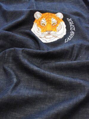 Джинс с купоном тигр на темно-синем фоне (4961) - Фото 11