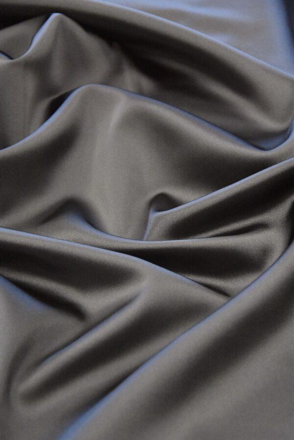 Атлас дюшес стрейч серо-коричневый (4997) - Фото 6