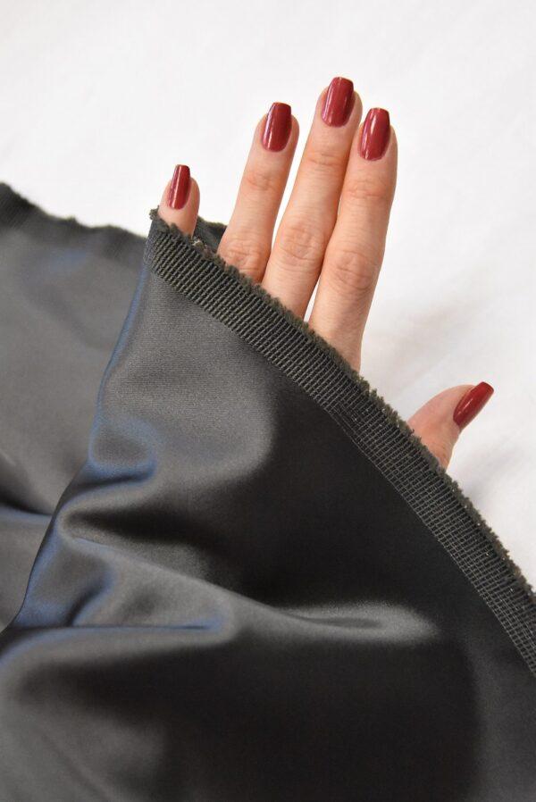 Атлас дюшес стрейч серо-коричневый (4997) - Фото 10