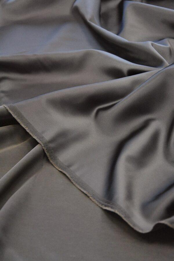 Атлас дюшес стрейч серо-коричневый (4997) - Фото 9