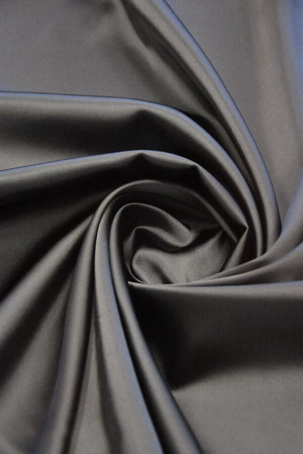 Атлас дюшес стрейч серо-коричневый (4997) - Фото 8