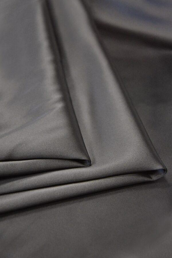 Атлас дюшес стрейч серо-коричневый (4997) - Фото 7