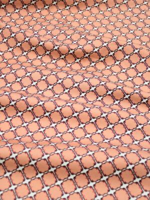 Сатин стрейч белый фон коралловые плитки (5001) - Фото 15