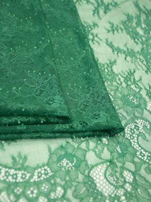 Кружево зеленое с цветами и фестонами (5037) - Фото 18