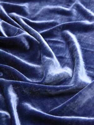 Бархат шелковый темно-синий (5075) - Фото 12