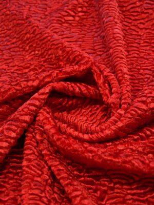 Мех каракуль искусственный красный (5082) - Фото 15